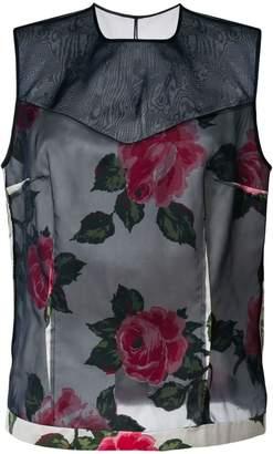 Maison Margiela sleeveless floral top