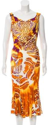 Just Cavalli Printed Maxi Dress w/ Tags