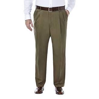 Haggar Men's Big-Tall Premium No Iron Classic Fit Pleat Front Pant,46x29
