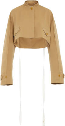 Givenchy Cropped Cotton-Gabardine Blouson Jacket