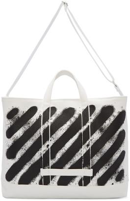 Off-White White Diagonal Spray Tote $465 thestylecure.com
