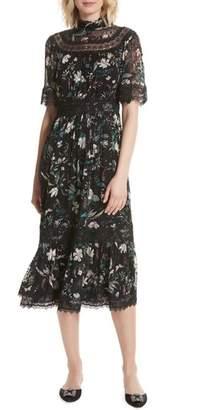 Kate Spade New York Botanical Chiffon Midi Dress