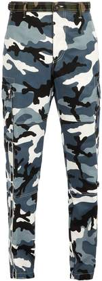 Valentino Camouflage-print cargo trousers