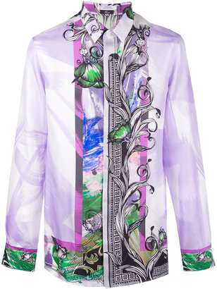 Versace Collection floral border print shirt $470.79 thestylecure.com