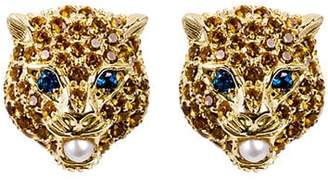 Gucci 18kt Cat Le Marché Des Merveilles Earrings