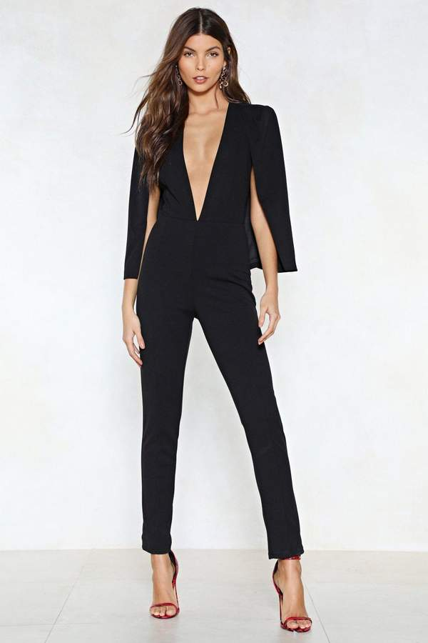 nastygal Cape It Together Tailored Jumpsuit