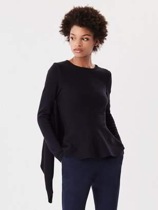Oscar de la Renta Tie-Front Wool-Blend Pullover