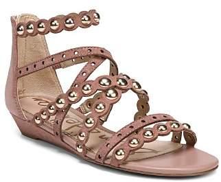 Sam Edelman Women's Dustee Studded Suede Gladiator Sandals