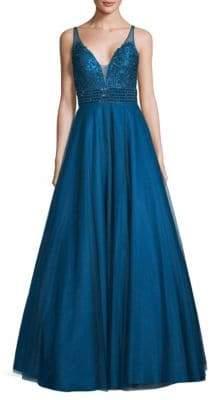 Basix Black Label Sleeveless A-Line Ball Gown