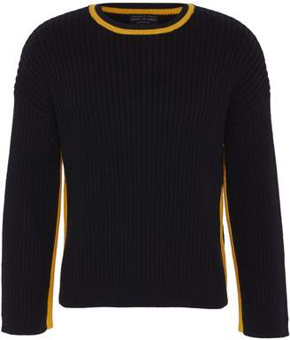 Charlie May x Achilles Ion Gabriel Stripe outseam rib knit unisex sweater