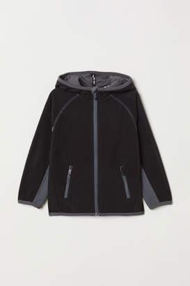 H&M Hooded Fleece Jacket - Black