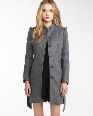 Melton Peplum Coat