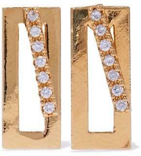 Astrid & Miyu Gold-Plated Crystal Earrings
