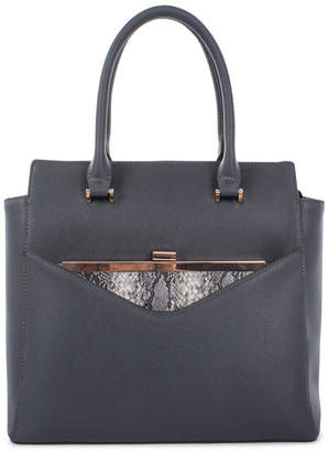 Celine Dion Collection Leather-Like Grazioso Satchel