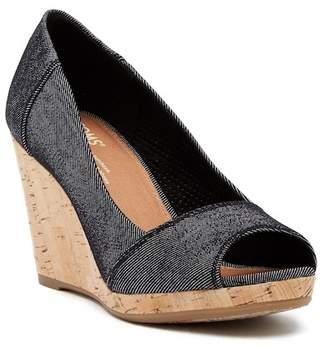 Toms Stella Denim Wedge Sandal