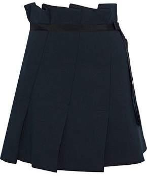 Sandro Yacin Pleated Twill Mini Skirt