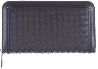 Bottega Veneta Bottega Veneta Intrecciato Leather Zip-Around Wallet