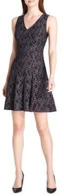 Tommy Hilfiger Garden Lace Fit--Flare Dress