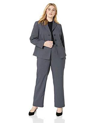 Le Suit Women's 2 Button Notch Collar Pant Suit