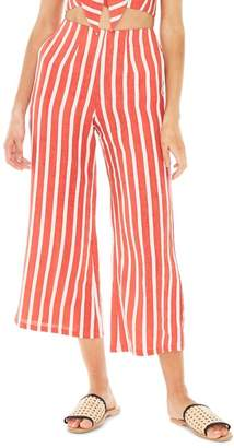 Faithfull The Brand Tomas Stripe Linen Wide Leg Pants