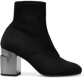 Clergerie - Keane Stretch-knit Sock Boots - Black