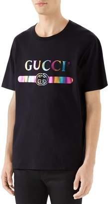 Gucci Iridescent Logo T-Shirt
