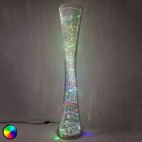 Extravagant gearbeitete LED-Stehleuchte Philia RGB