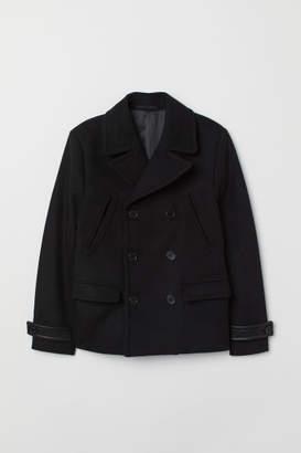 H&M Pea Coat - Black