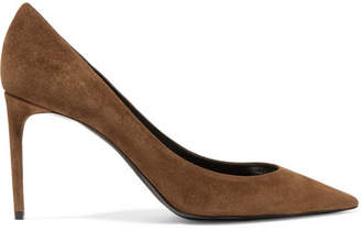 Saint Laurent Zoe Suede Pumps - Camel