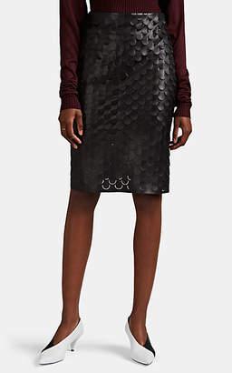 Bottega Veneta Women's Cutout-Detailed Leather Knee-Length Skirt - Black