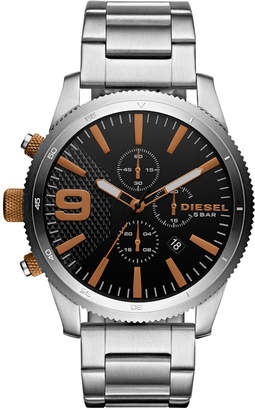 Diesel Men's Chronograph Rasp Chrono 46 Stainless Steel Bracelet Watch 46mm