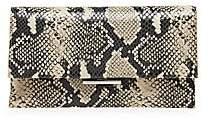 Loeffler Randall Women's Tab Snakeskin-Embossed Leather Clutch