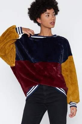 Nasty Gal I Was Made Fur Loving You Faux Fur Sweatshirt