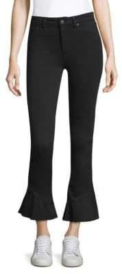 Paige Flare Hem High-Rise Jeans