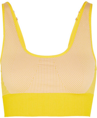 Adidas by Stella McCartney - The Seamless Climalite Stretch Sports Bra - Mustard $60 thestylecure.com