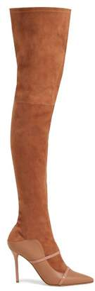 Malone Souliers By Roy Luwolt - Madison Over The Knee Suede Boots - Womens - Nude