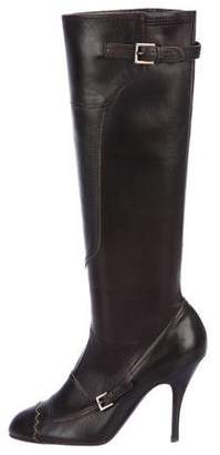 Salvatore Ferragamo Leather Knee-High Boots