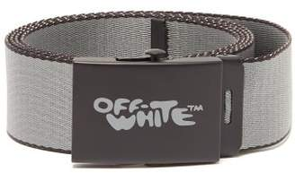 Off-White Off White Bubble Text Logo Belt - Mens - Black