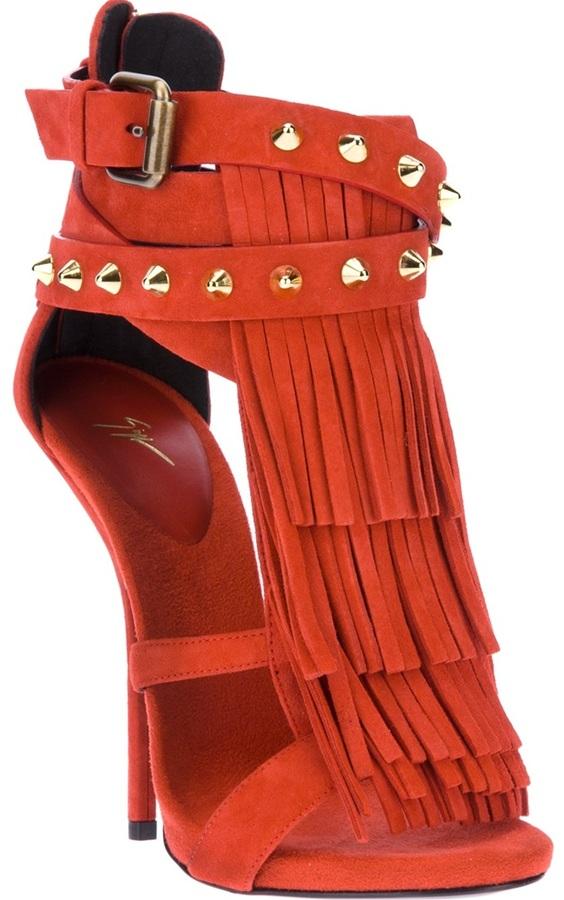 Giuseppe Zanotti Design 'Wild Africa' fringed sandal