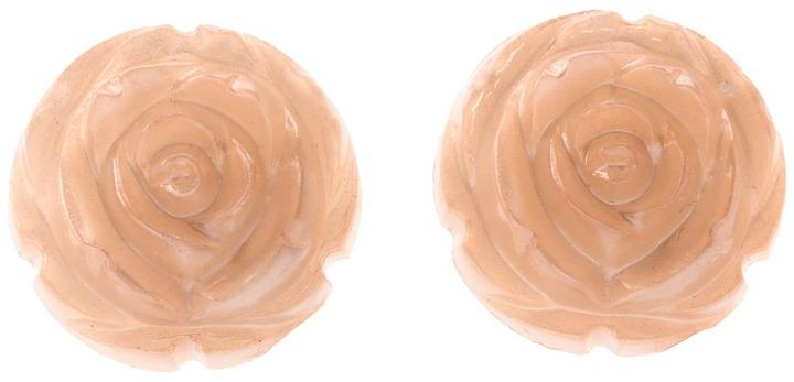 Tarina Tarantino Lucite Carved Roses Earrings