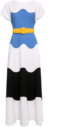 Lilli Jahilo Signe Wool Crepe Gown With Elongated Short Sleeves