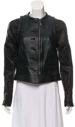 Balenciaga Button-Up Leather Jacket