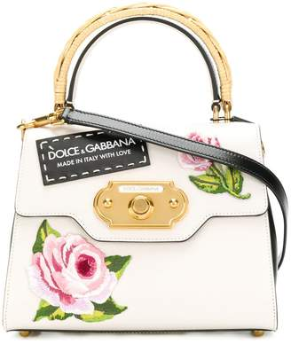 Dolce & Gabbana Welcome rose print tote