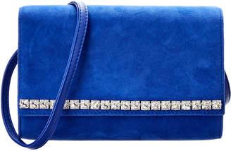Giuseppe Zanotti Crystal & Suede Shoulder Bag