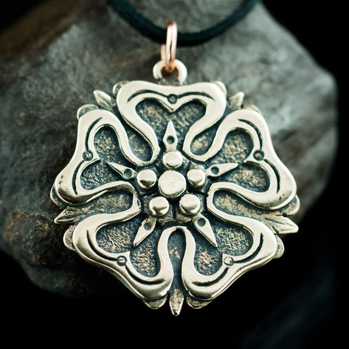 Etsy Rose - House of YORK, ROSENBERG and LANCASTER Medieval Bronze Pendant Middle Ages Charm necklace Jew