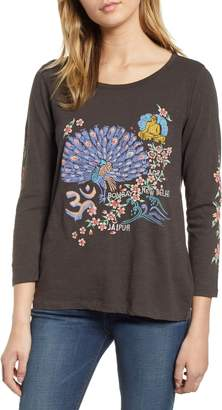 Lucky Brand India Embroidered Tee