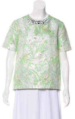 Marni Embellished Short Sleeve Top w/ Tags