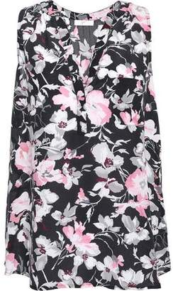 Joie Senia Floral-Print Washed-Silk Top
