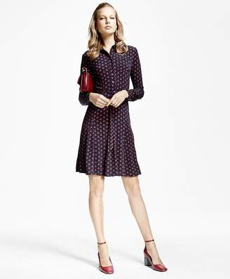 Printed Jersey-Knit Shirt Dress $198 thestylecure.com