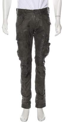 Ralph Lauren Black Label Wax-Coated Cargo Slim Pants